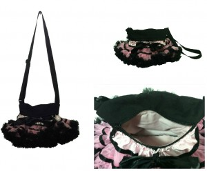 Black and Pink Collage Purses